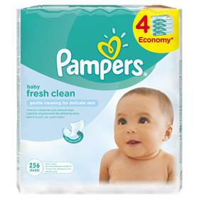 Pampers - Baby Wipes Fresh - 4 x 64