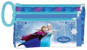 Disney Frozen 3 Compartment Pencil Case