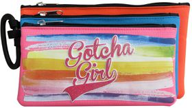 Gotcha Girls 3 Compartment Pencil Case