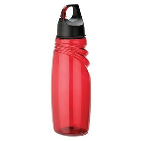 Eco - 700ml Water Bottle With Carabineer Lid - Red