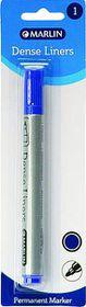 Marlin Dense Liners Permanent Marker - Blue
