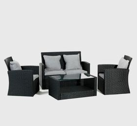 Cielo - Benedict Patio Lounge Set - Black
