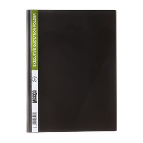Meeco A4 Executive Quotation Folder - Black