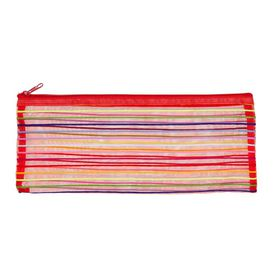 Meeco Mesh Large (34cm) Pencil Bag - Red