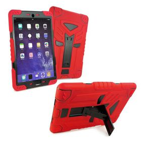 "Tuff-Luv Tri-Layer Survivor Rugged Case for the Apple iPad Pro 9.7"" - Red/Black"