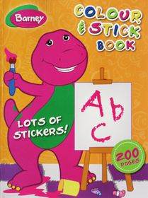 Barney 200 Page Colour & Stick Book