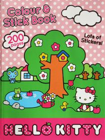 Hello Kitty 200 Page Colour & Stick Book