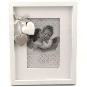 Pamper Hamper - Medium Single Landscape Photo Frame - White