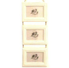 Pamper Hamper - Triple Photo Frame Ladder - White