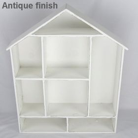 Pamper Hamper - Wooden House Shaped Wall Shelf - White