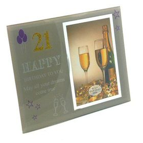 Pamper Hamper - Frame 21st Birthday - Silver