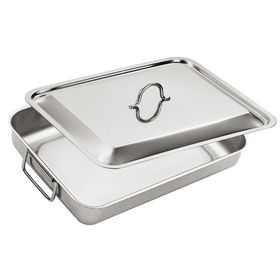 Eat Italy - Stainless Steel Lasagne Dish With Lid - 40 x 32 cm