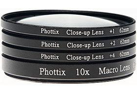 Phottix +1, +2, +4, 10x Macro Lens Filters (Close-Up Lens) 72mm