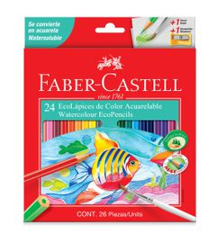 Faber-Castell 24 Full Length Watercolour Ecopencils