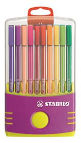 Stabilo Pen 68 1.0mm Fibre Tip Pens ColorParade (Lilac Plastic Box of 20)
