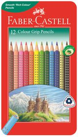 Faber-Castell Colour Grip Pencils (Tin of 12)