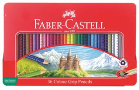 Faber-Castell Colour Grip Pencils (Tin of 36)
