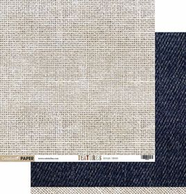 Celebr8 Textures Double Sided Paper - Hessian & Denim (10 Sheets)