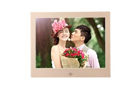 "Fotomate 10"" Digital Photo Frame - Gold Metallic"