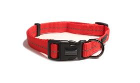 Dog's Life - Reflective Super soft Webbing H Harness - Medium - Red