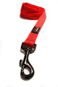 Dog's Life - Reflective Super soft Webbing Leash - Medium - Red
