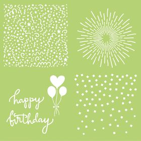 Kaisercraft 12 x 12 Template - Celebrate