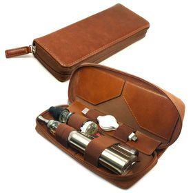 Tuff-Luv E - Cig Vape Pen Mod Luxury Leather Travel Case