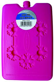 Leisure-quip - Non Toxic Flat Easy Pack Ice Brick - Pink - 200ml