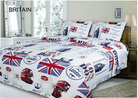 Simon Baker - Britain Quilted & Printed Comforter Set