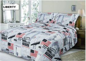 Simon Baker - Quilted & Printed Liberty Comforter