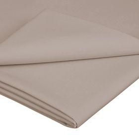 Simon Baker - TC200 Poly Percale Queen Flat Sheet - Stone