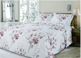 Simon Baker - Quilted & Printed Lily Comforter Set