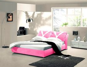 Simon Baker - Pink Suede Bed Base Wrap - Three Quarter