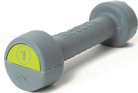 Reebok Studio 1kg Rubber Handweight - Green