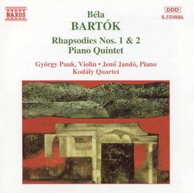 Gyorgy Pauk - Rhapsodies Nos. 1 & 2 / Piano Quintet / Andante (CD)