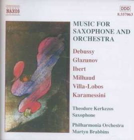 Milhaud - Music For Saxophone & Orch;Brabbins (CD)