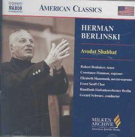 Senff Ch/berlin Rso/schwarz - Berlinsky: Avodat Shabbat (CD)