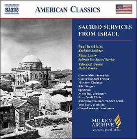 Ben Haim/braun/lavry - Sacred Services From Israel (CD)