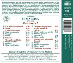 Cimarosa: Overtures Vol 2 - Overtures Vol 2 (CD)
