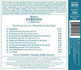 Parsons: First Great Service - First Great Service / Responds For The Dead (CD)