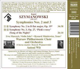 Szymanowski; Symphonies 2&3 - Szymanowski; Symphonies 2&3 (CD)