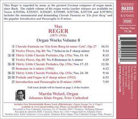 Reger: Organ Music Vol 8 - Organ Music - Vol.8 (CD)