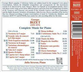 Bizet: Complete Music For Solo Piano - Complete Music For Solo Piano (CD)