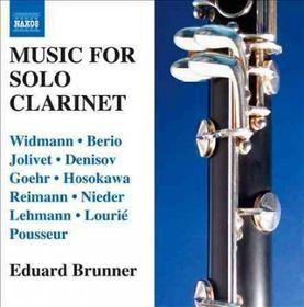 Widman/berio/jolivet:clarinet Music - Music For Solo Clarinet (CD)