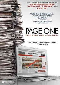 Page One:Inside the New York Times - (Region 1 Import DVD)