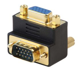 Lindy 90 Degree Vga Male to Female Down Adapter