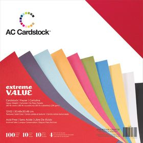 American Craft Cardstock Value Pack - 100 Sheets