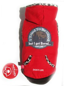 Dog's Life - Bored Tee Red - Extra Small