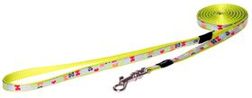 Rogz Lapz Trendy Multi Bones Fixed Long Dog Lead - Extra Small