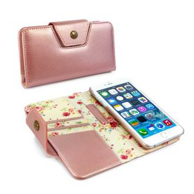 Tuff-Luv Alston Craig Ladies Magnetic Case for the the Apple iPhone 6/6S - Rose Gold Floral